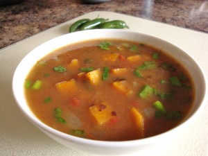 Caribbean Black Bean Sweet Potato Soup