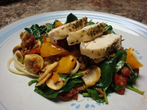 Gitanos Fettucini with Chicken & Sausauge1