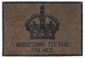 pretentious door mat