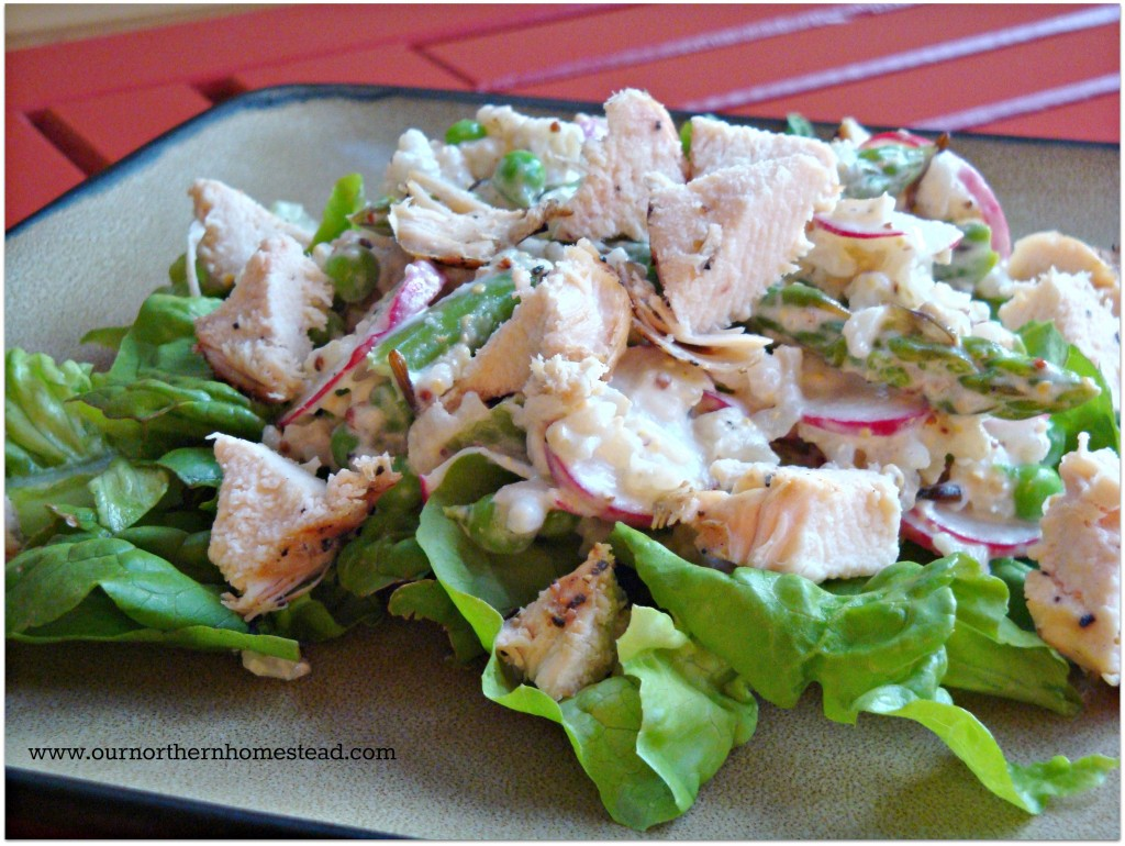 Chicken, Pea & Asparagus Salad