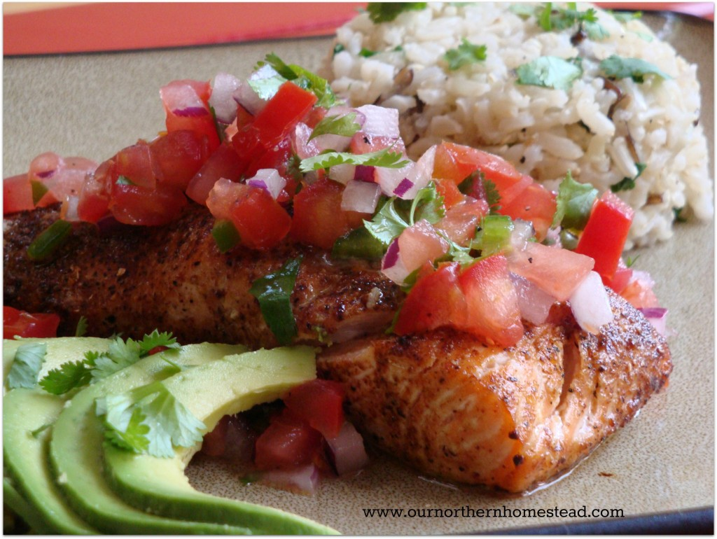 Mexican Salmon Dinner
