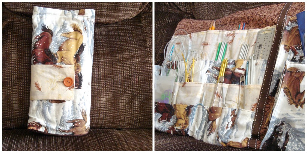 Knitting Needle Case Collage