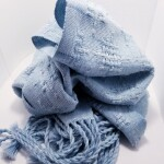 100% Cotton Huck Lace Scarf ~ Acid Blue ~ $95.00 CAD