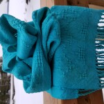 100% Cotton Huck Lace Scarf in Seafoam/Turquoise ~ $95.00 CAD