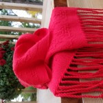 100% Cotton Huck Lace Scarf ~ Cherry Red ~ $95.00 each CAD **SOLD OUT, Pre-order available**