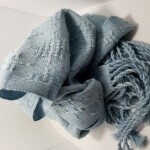 100% Cotton Huck Lace Scarf ~ Denim ~ $95.00 each CAD